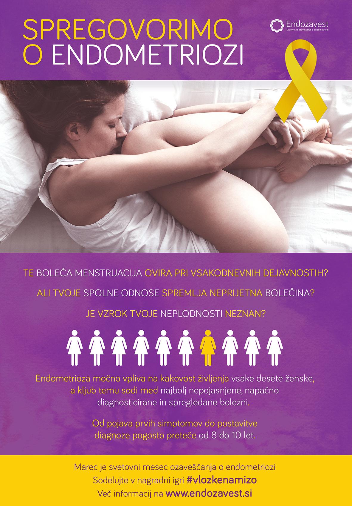 endozavest plakat - Akcija ozaveščanja o endometriozi 2017